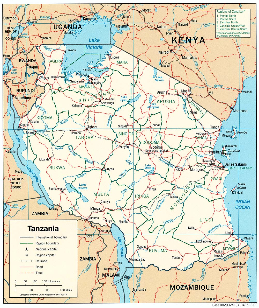 Maps of Tanzania Map Library Maps of the World
