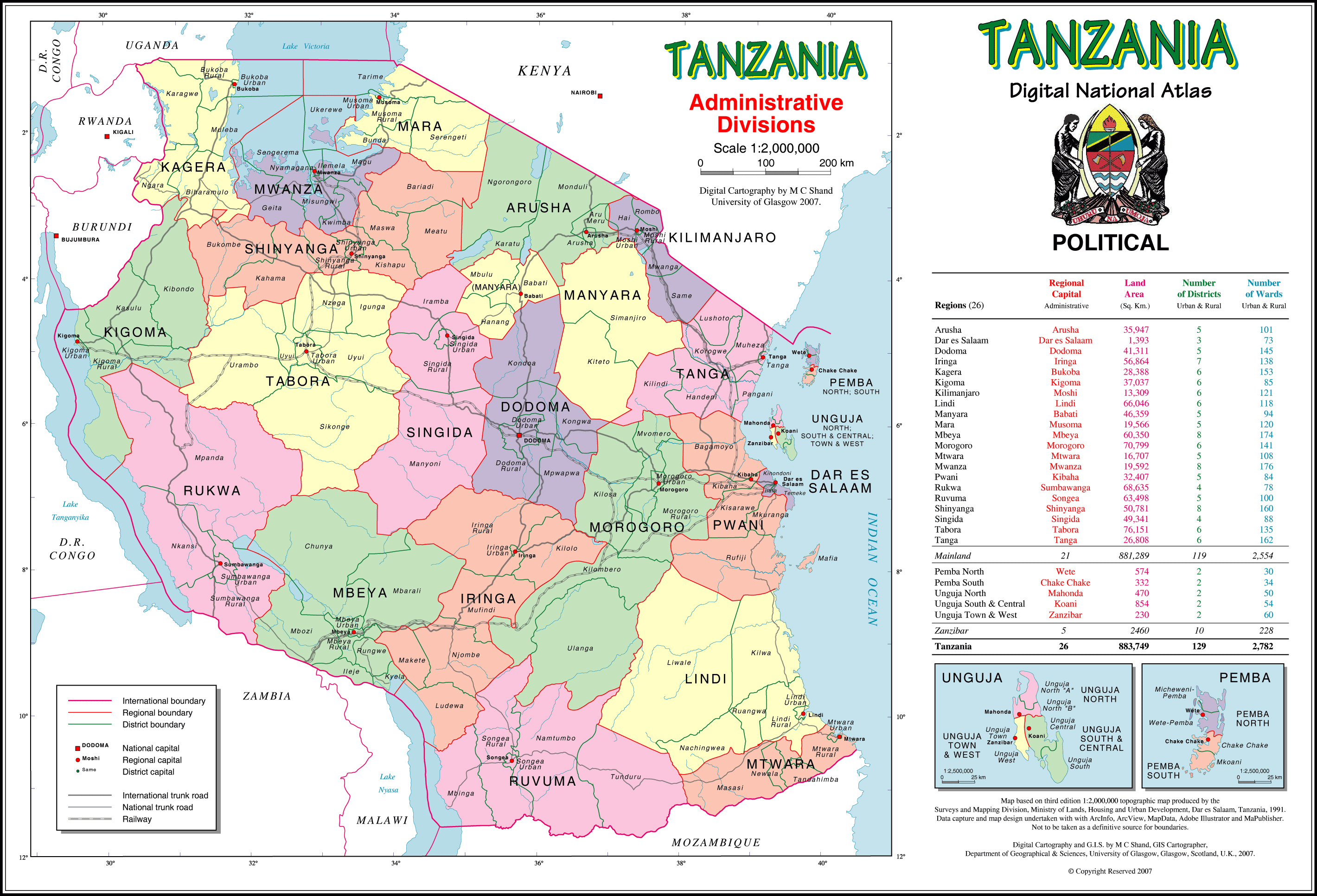 Tanzania Political Map.Maps Of Tanzania Map Library Maps Of The World