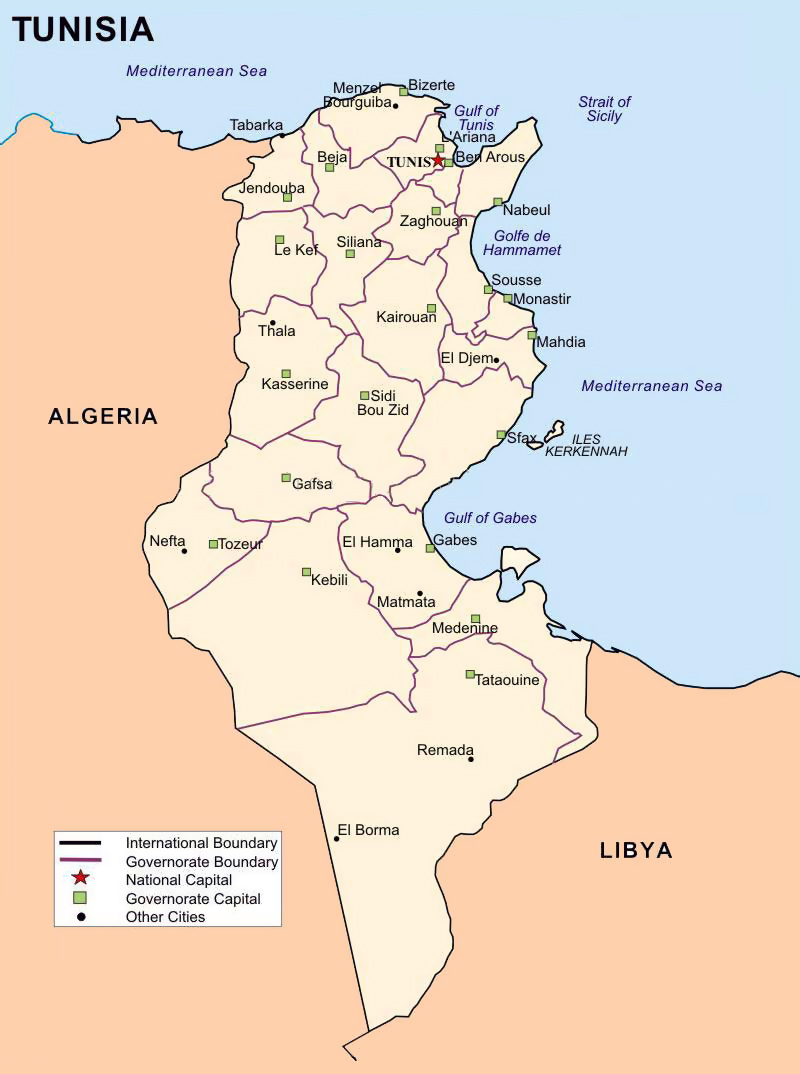 Maps of Tunisia Map Library Maps of the World