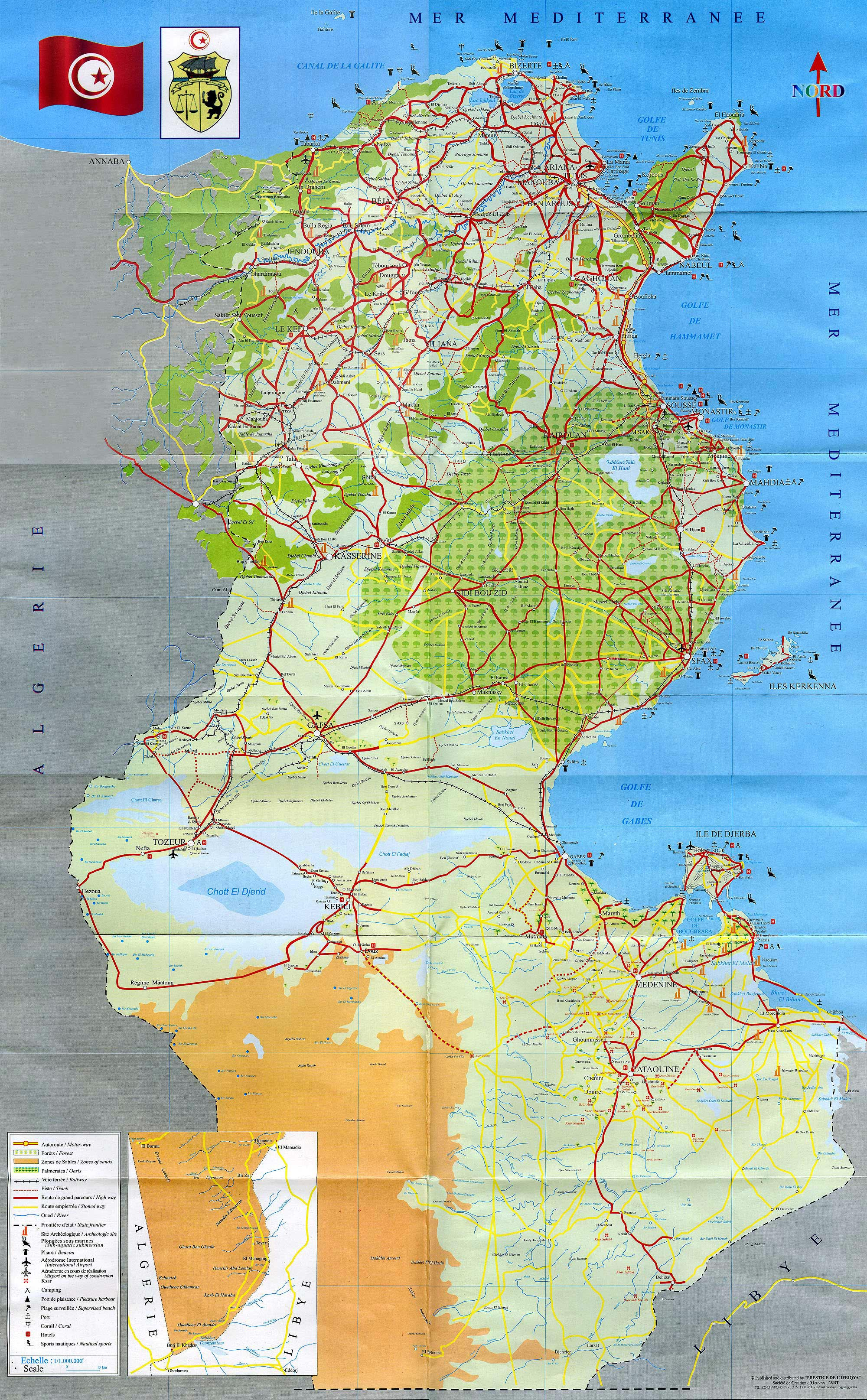 Maps Of Tunisia Map Library Maps Of The World - Tunisia cities small scale map