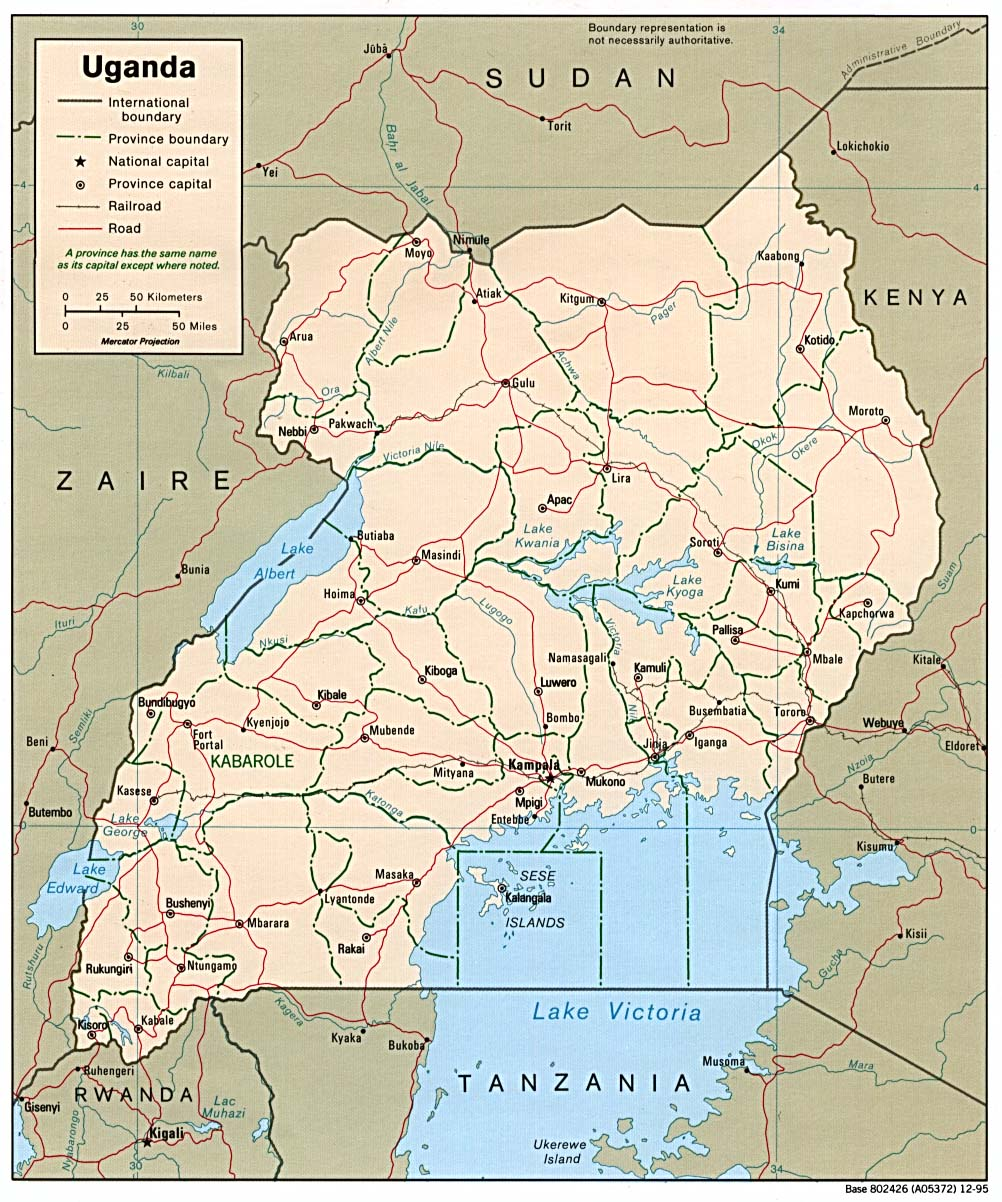Maps of Uganda Map Library Maps of the World