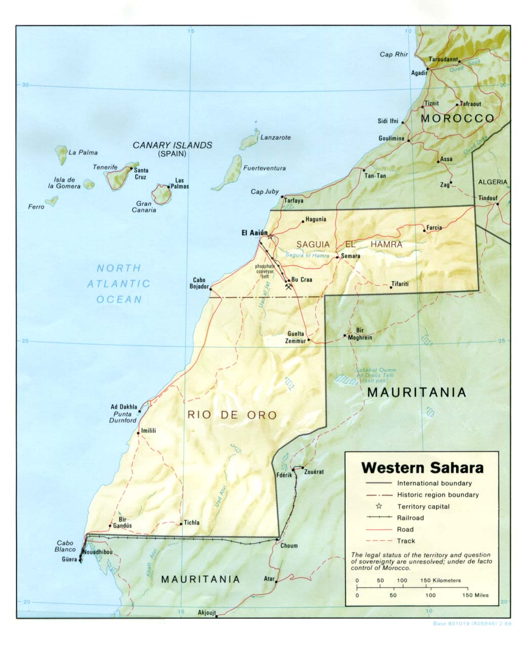 Maps of Western Sahara Map Library Maps of the World