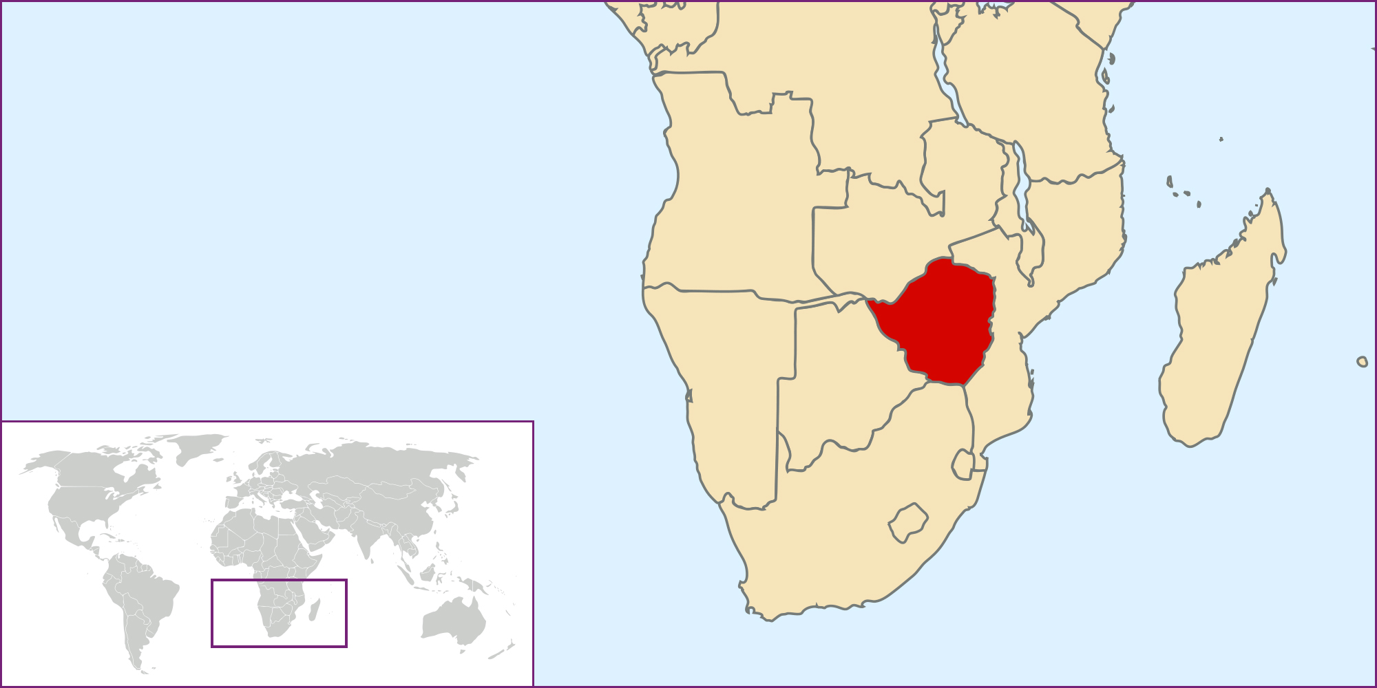 Maps of Zimbabwe Map Library Maps of the World