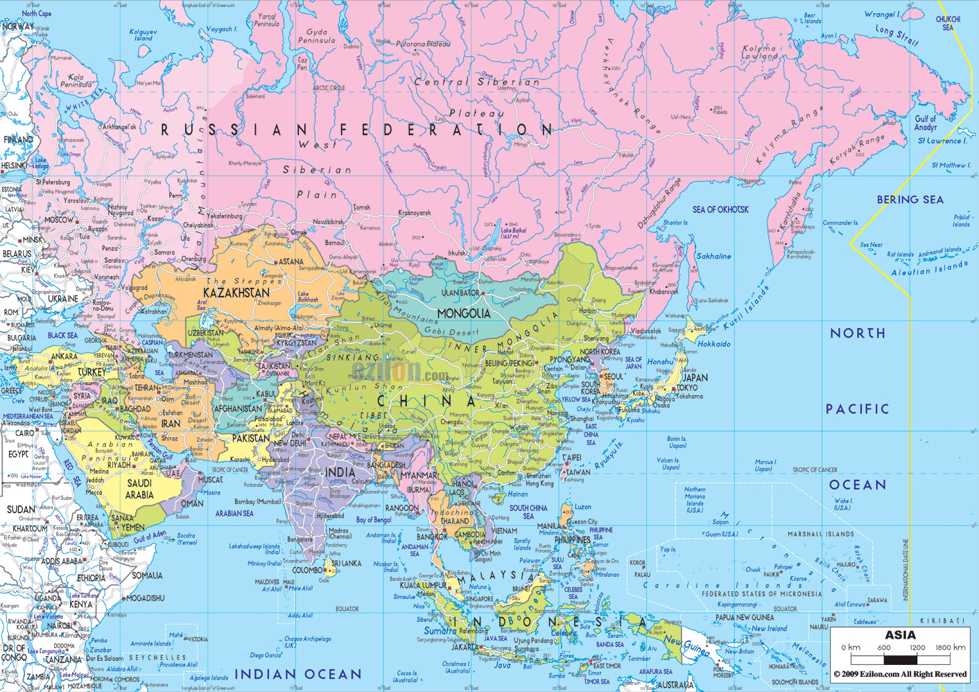 interactive map of asia countries and capitals choice