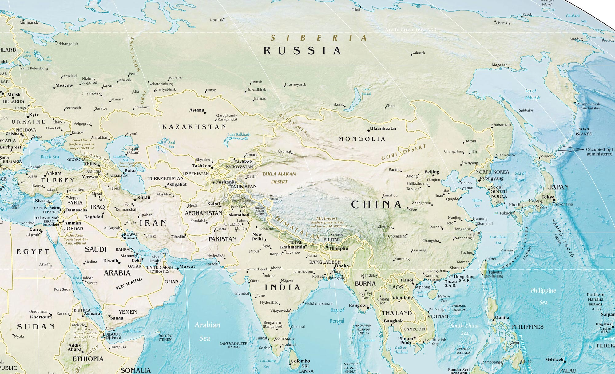 Maps of Asia Map Library Maps of the World