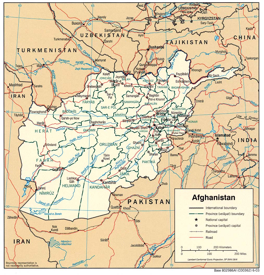 Maps of Afghanistan | Map Library | Maps of the World