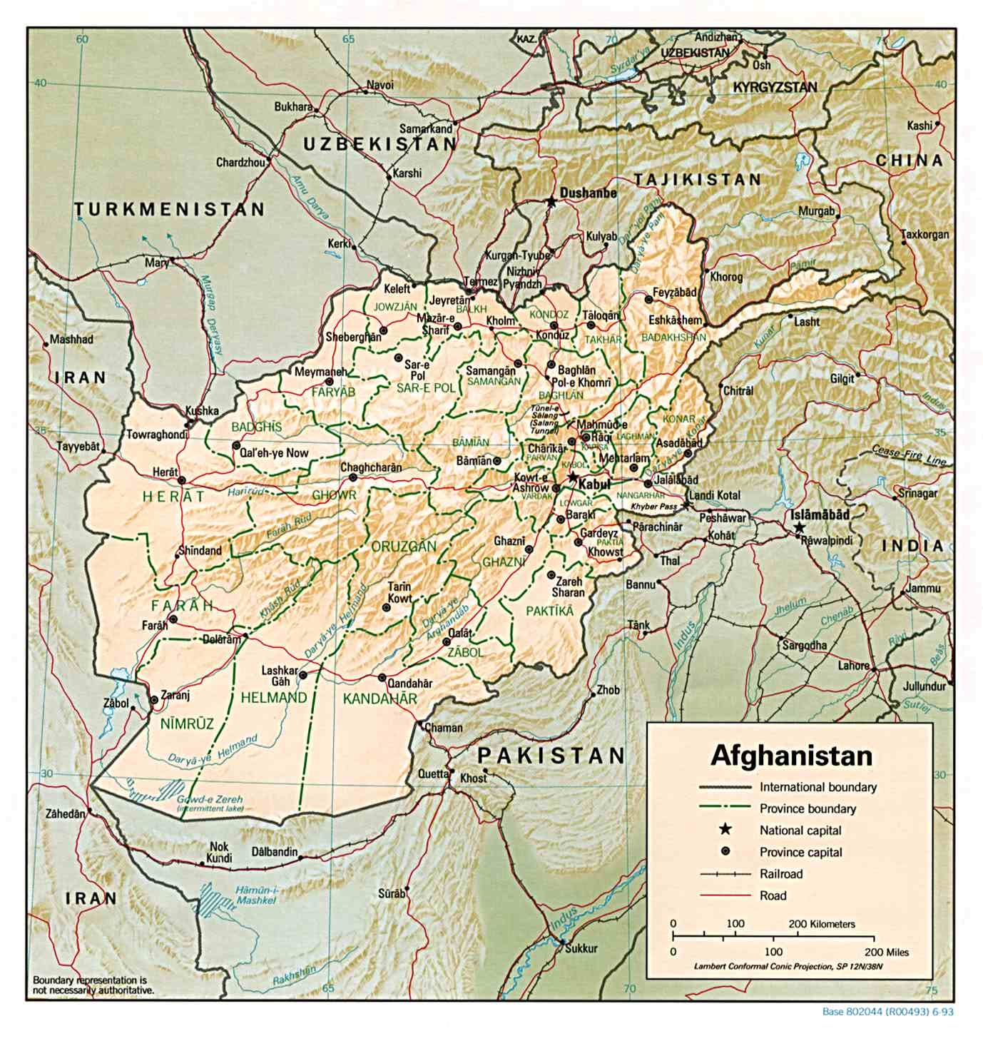 Maps Of Afghanistan Map Library Maps Of The World - Afghanistan political map