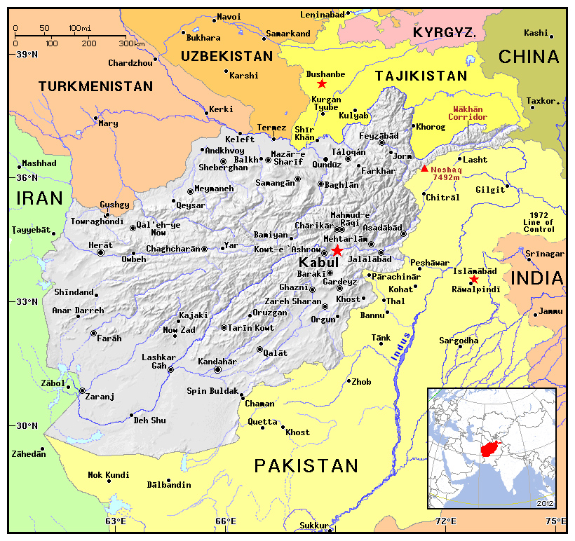 Maps Of Afghanistan Map Library Maps Of The World