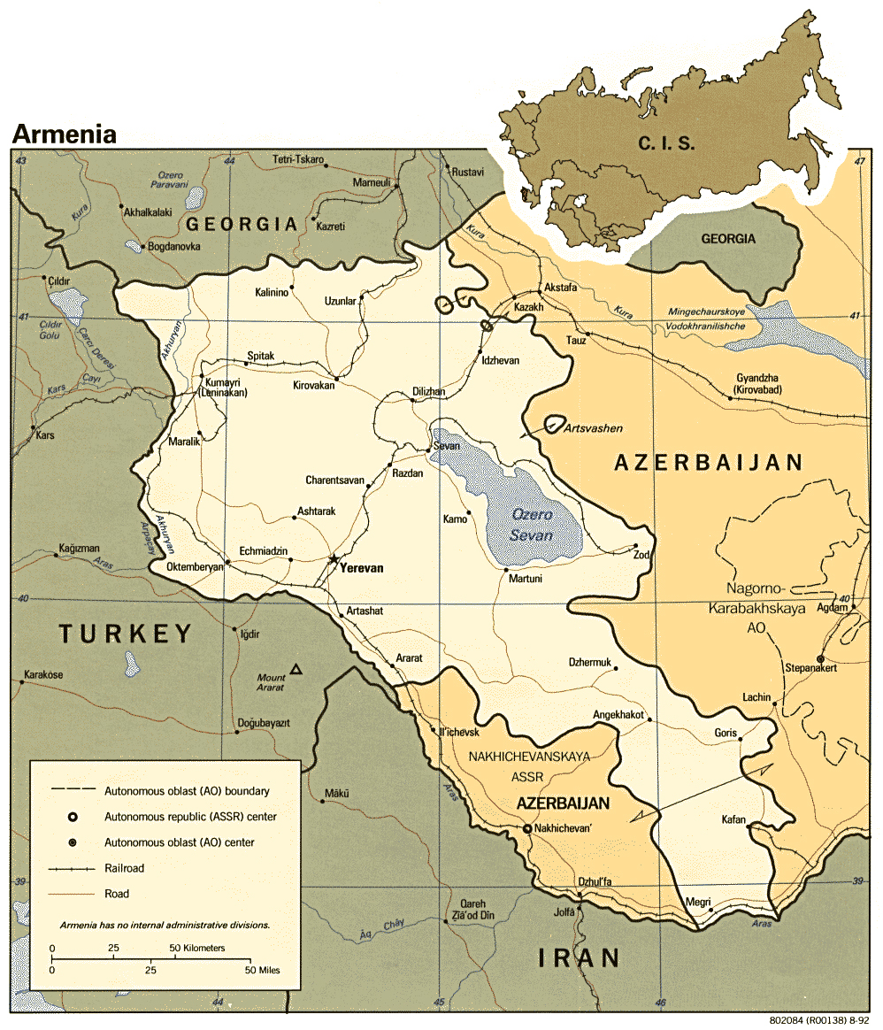 Maps of Armenia Map Library Maps of the World