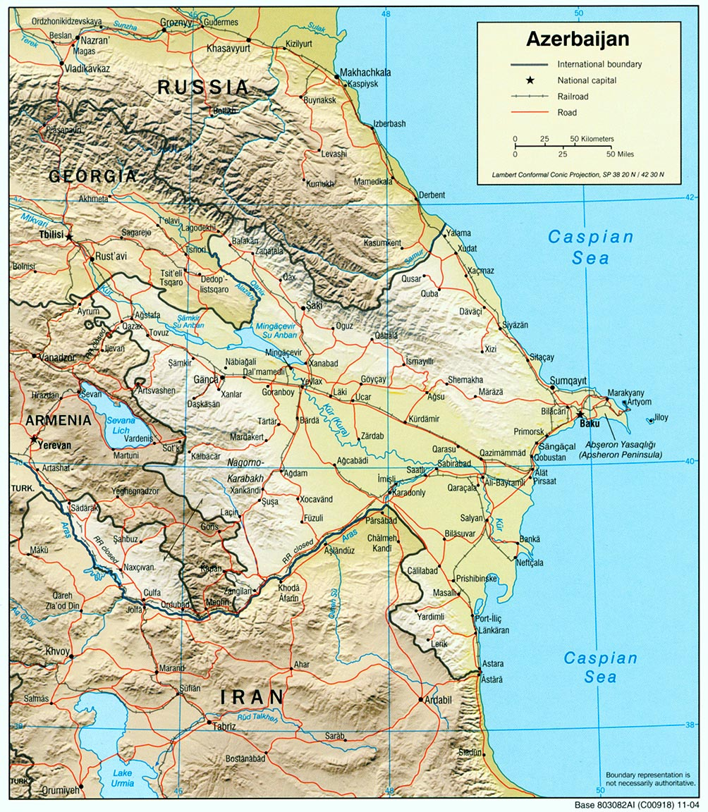 Maps of Azerbaijan Map Library Maps of the World