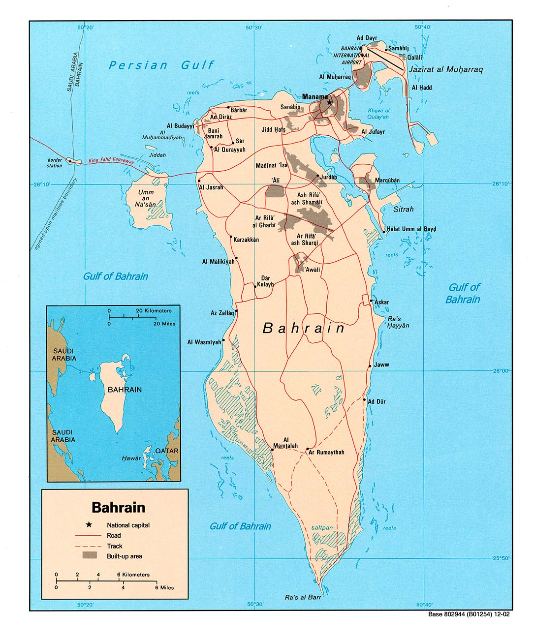 Maps of Bahrain Map Library Maps of the World