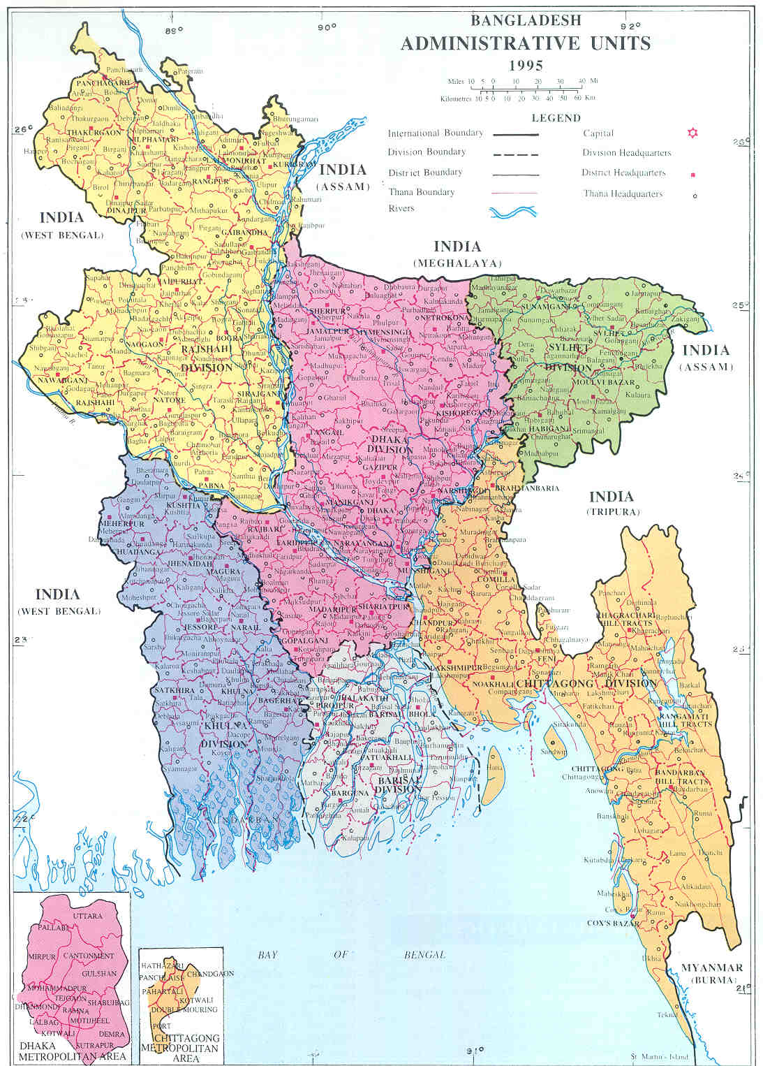 Maps of Bangladesh | Map Library | Maps of the World