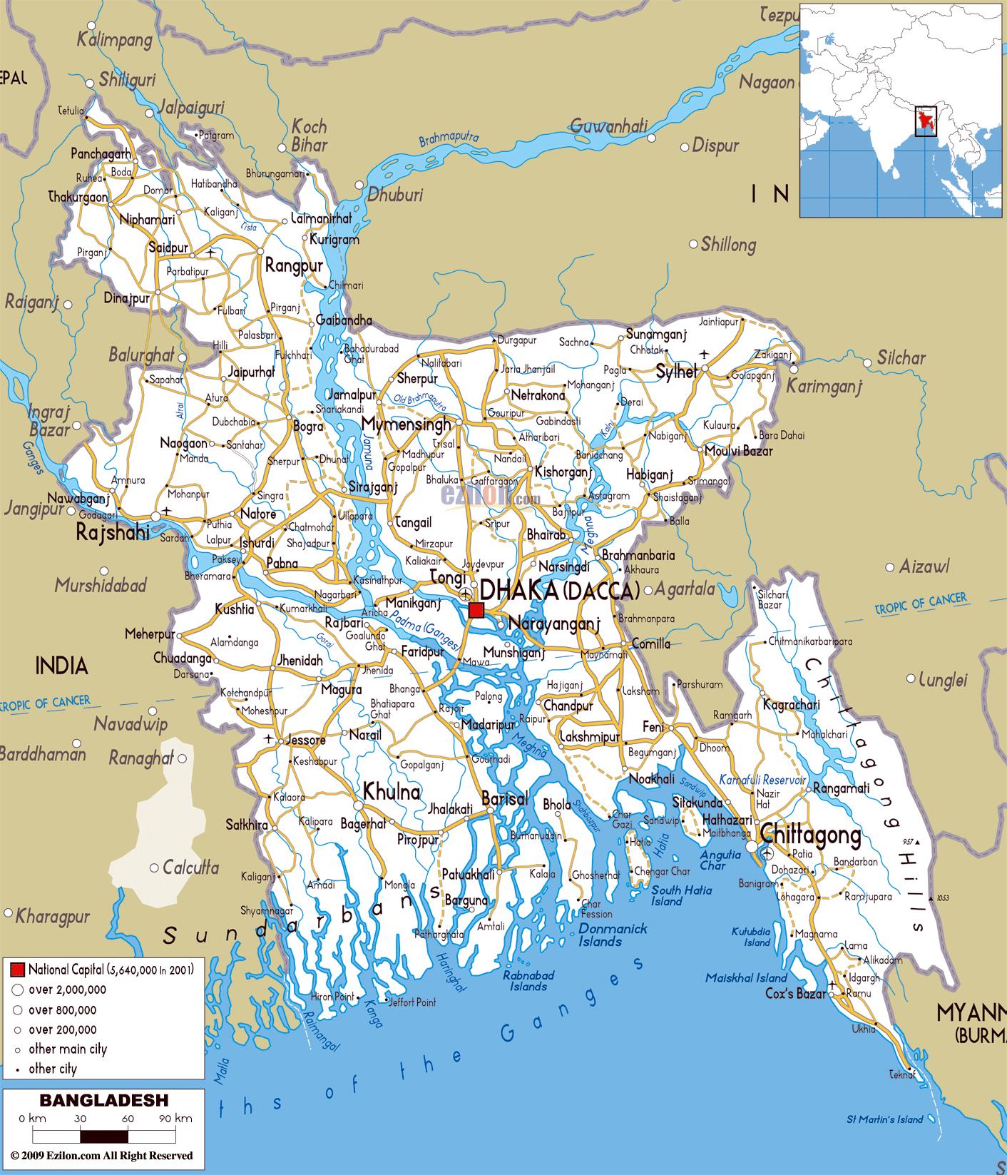 Asia Map Bangladesh.Maps Of Bangladesh Map Library Maps Of The World