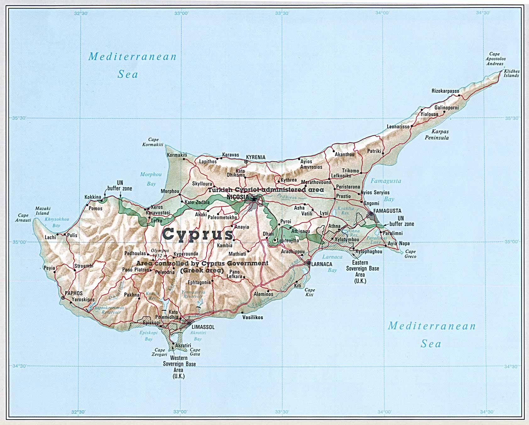 Ercan Zypern Karte