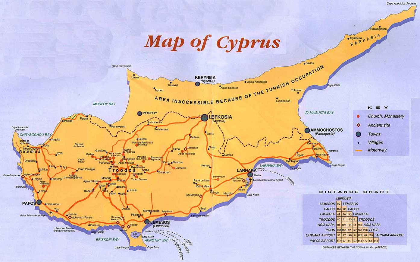 Maps of Cyprus Map Library Maps of the World