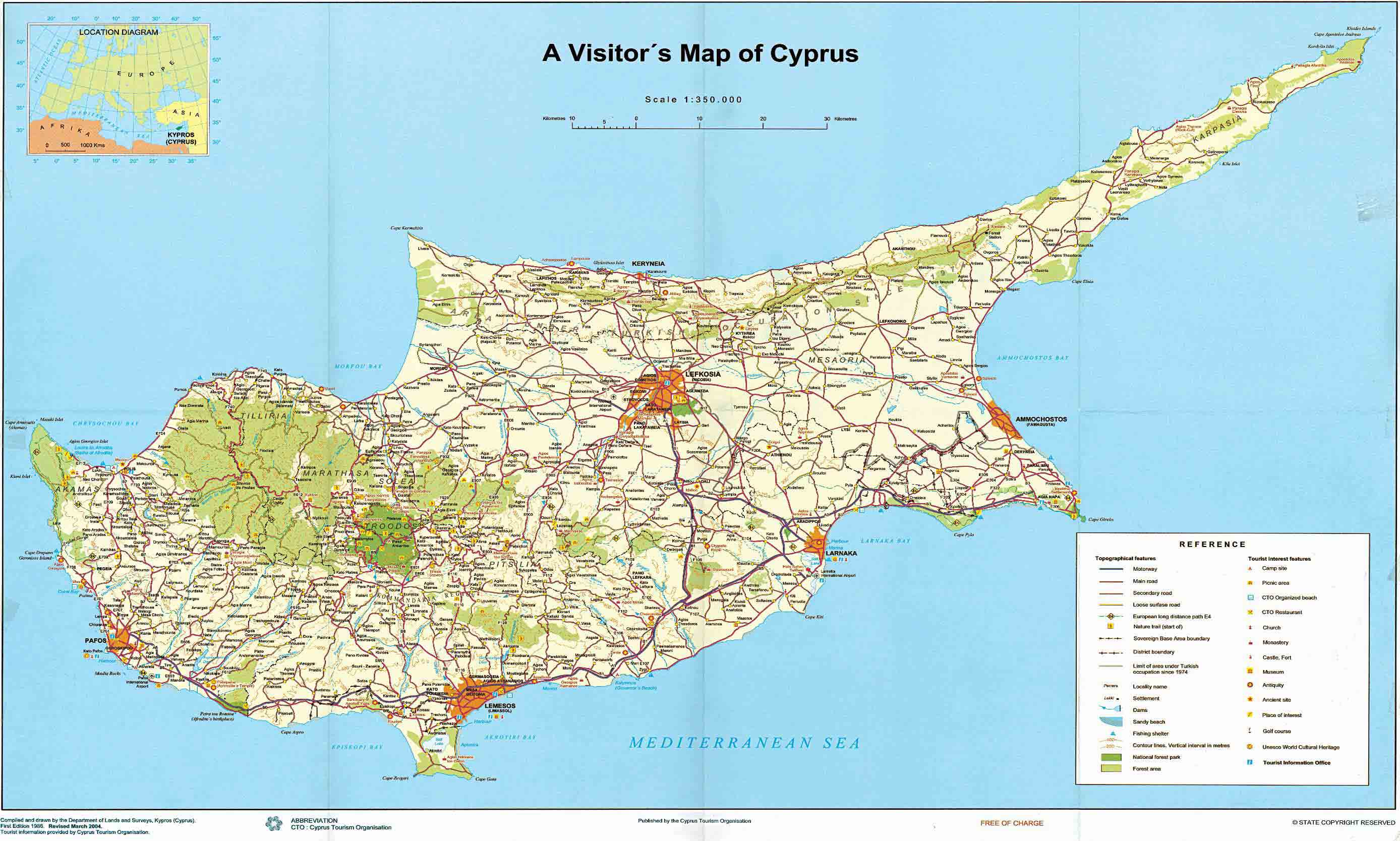 Maps of cyprus map library maps of the world large detailed road and tourist map of cyprus gumiabroncs Choice Image