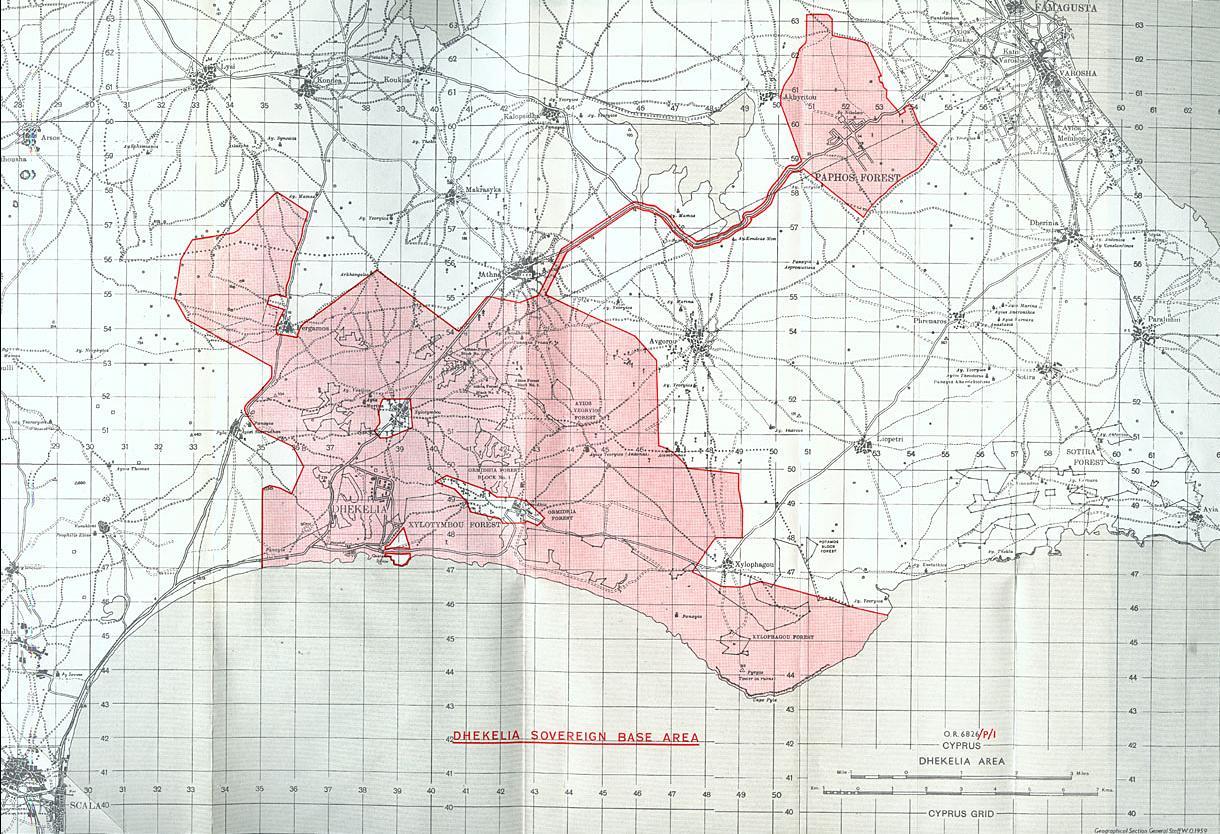 Maps of Dhekelia Map Library Maps of the World