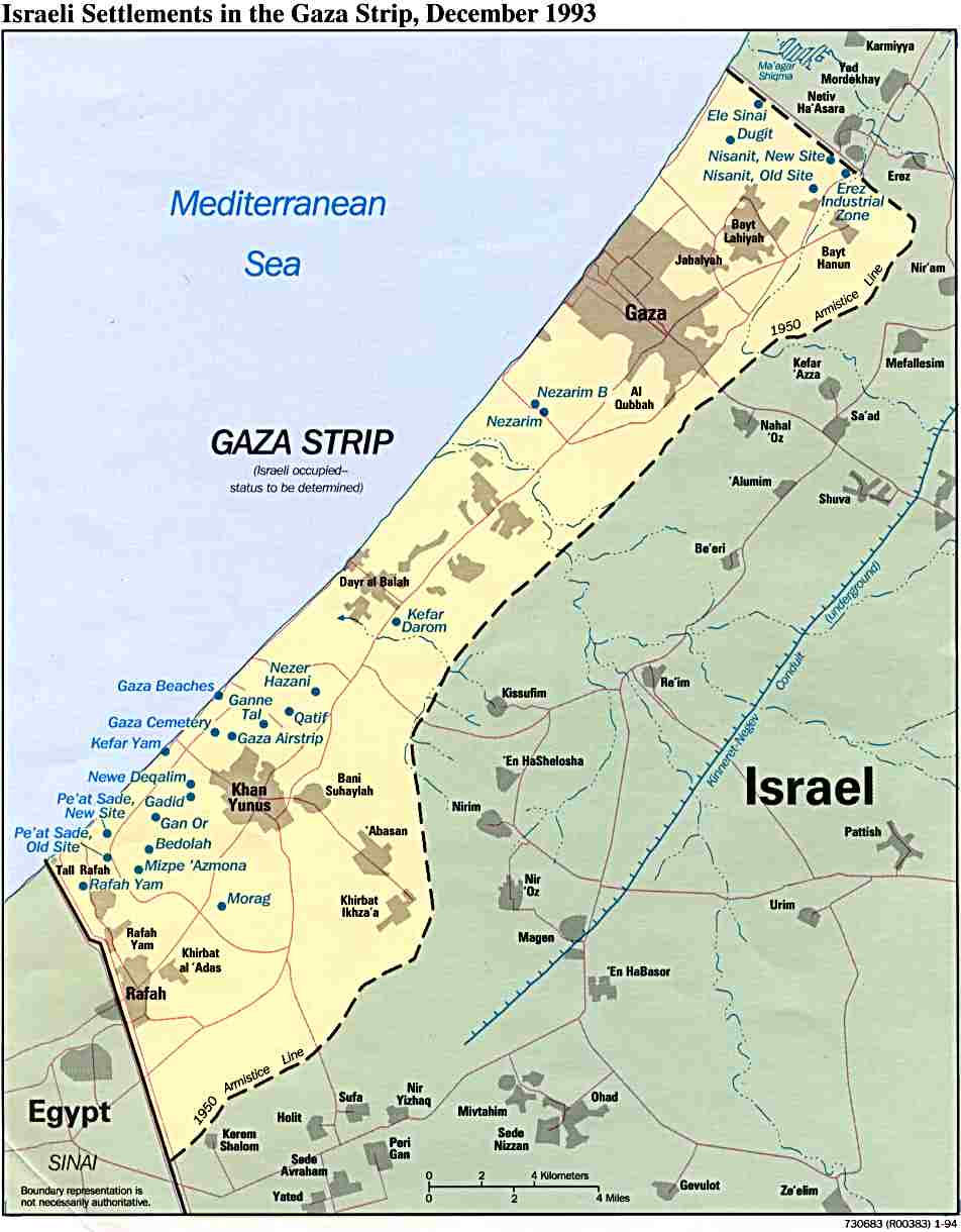 Maps of Gaza Strip Map Library Maps of the World