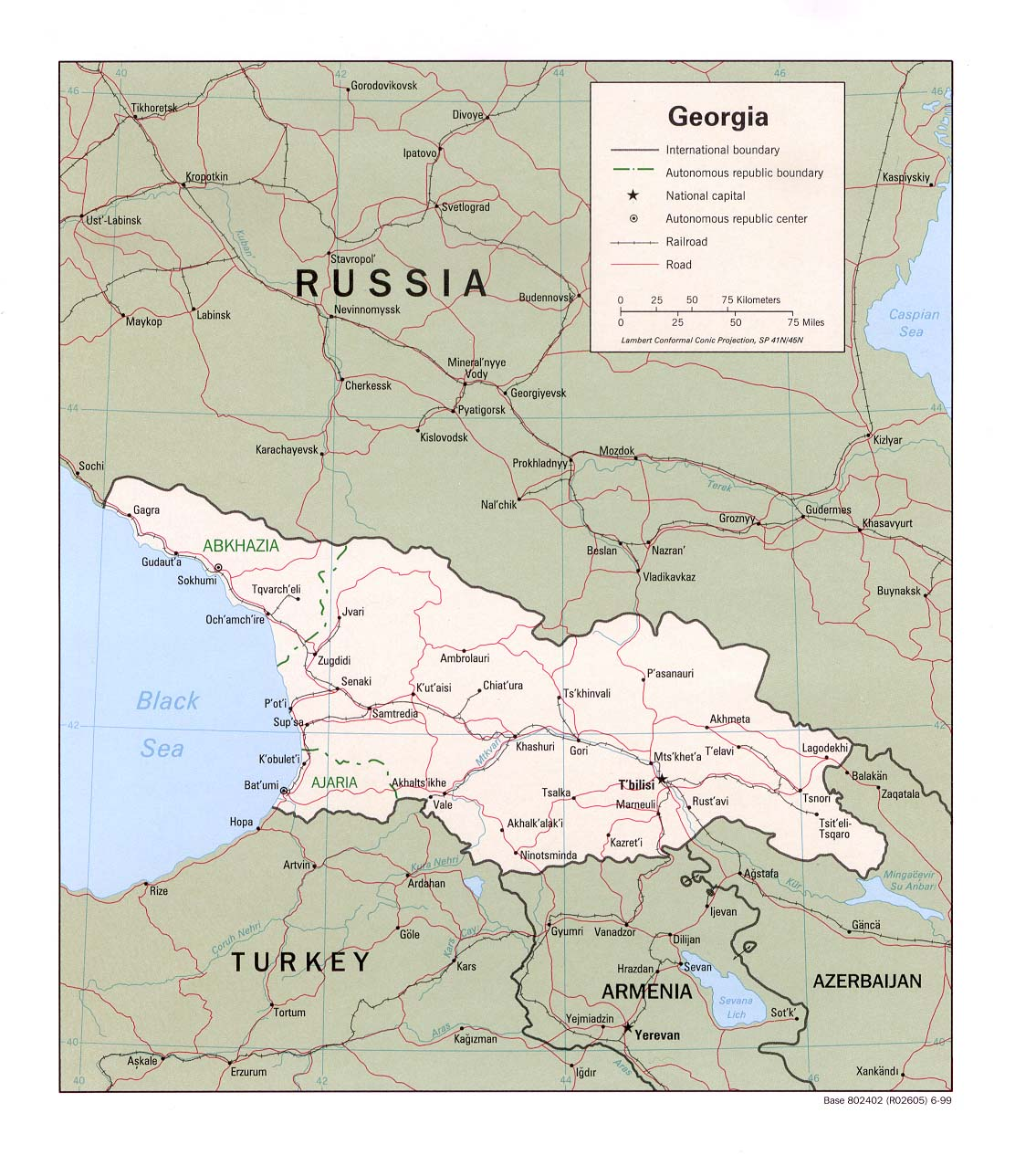 Maps of georgia map library maps of the world large detailed political map of georgia with roads gumiabroncs Images