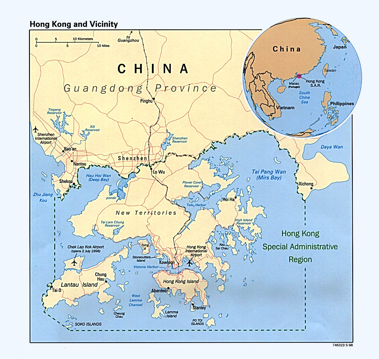 Maps of Hong Kong Map Library Maps of the World