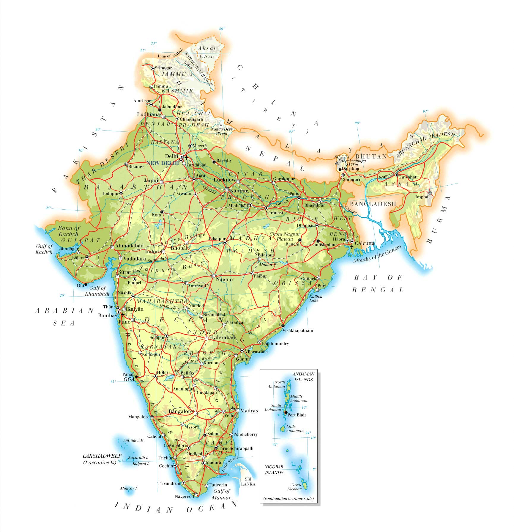 Maps of India Map Library Maps of the World