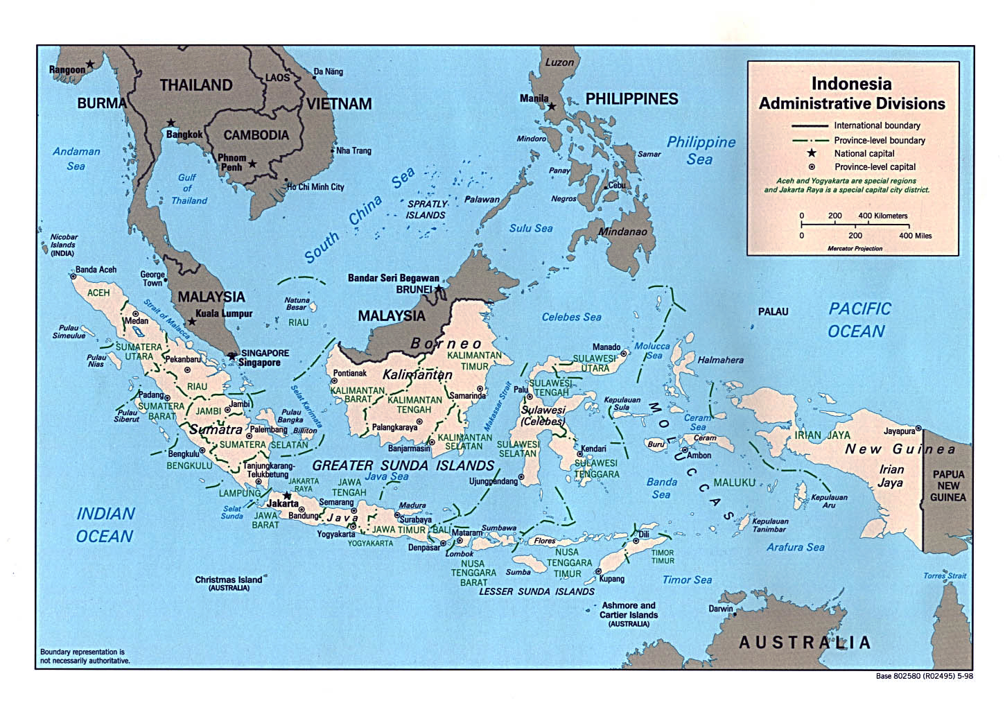 Maps of indonesia map library maps of the world detailed administrative map of indonesia gumiabroncs Gallery