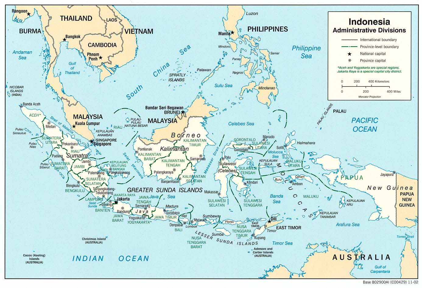 Maps of indonesia map library maps of the world large detailed political and administrative map of indonesia gumiabroncs Choice Image