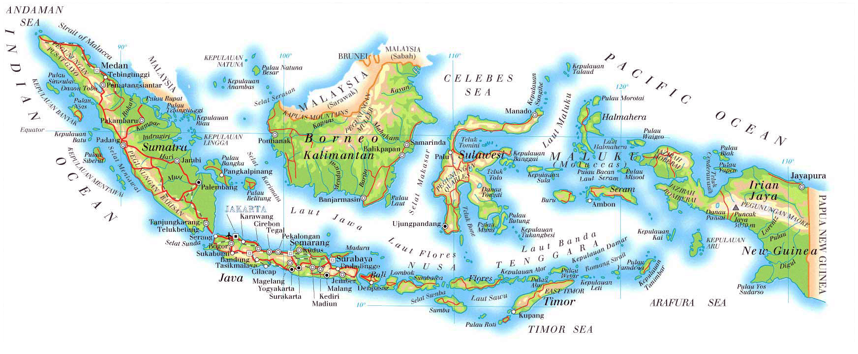 Maps of Indonesia Map Library Maps of the World