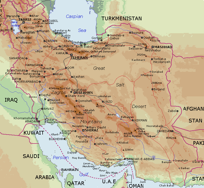 Maps of Iran Map Library Maps of the World