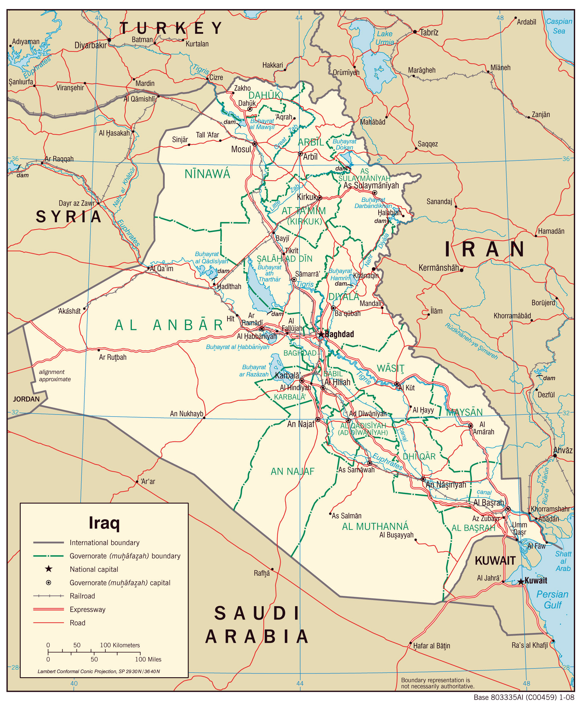 Maps of Iraq Map Library Maps of the World