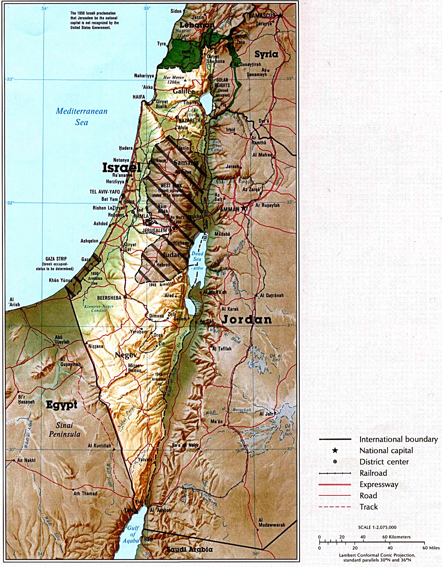 Maps Of Israel Map Library Maps Of The World - Map of israel today