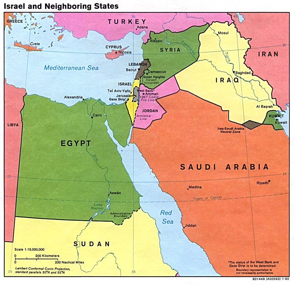 Maps of israel map library maps of the world large detailed political map of israel gumiabroncs Image collections