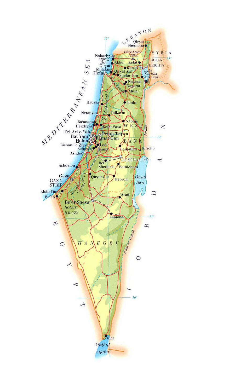 Maps of Israel Map Library Maps of the World