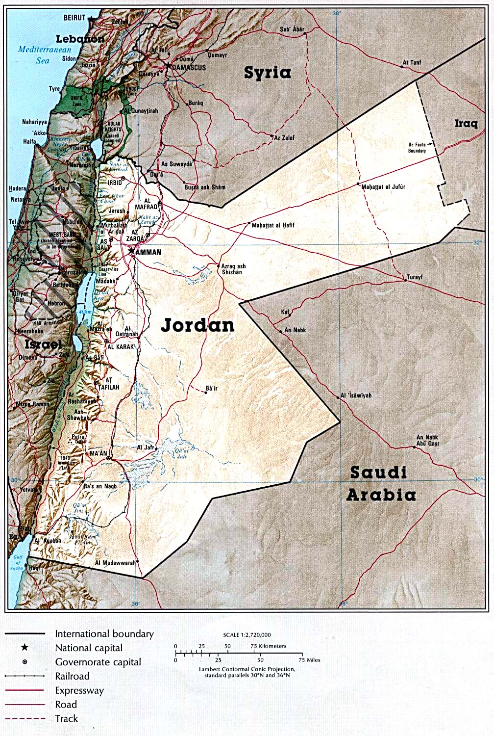Maps of Jordan Map Library Maps of the World