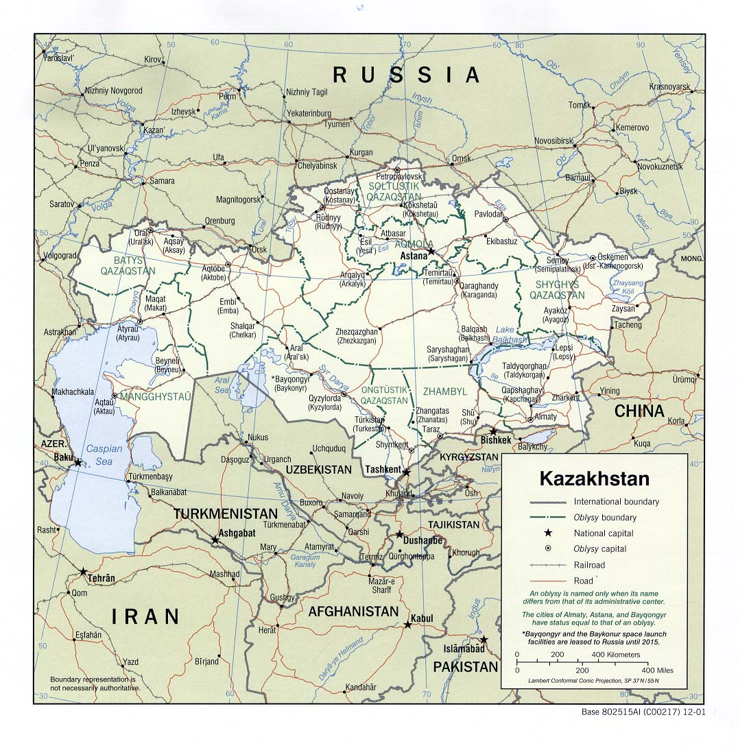 Maps of Kazakhstan Map Library Maps of the World
