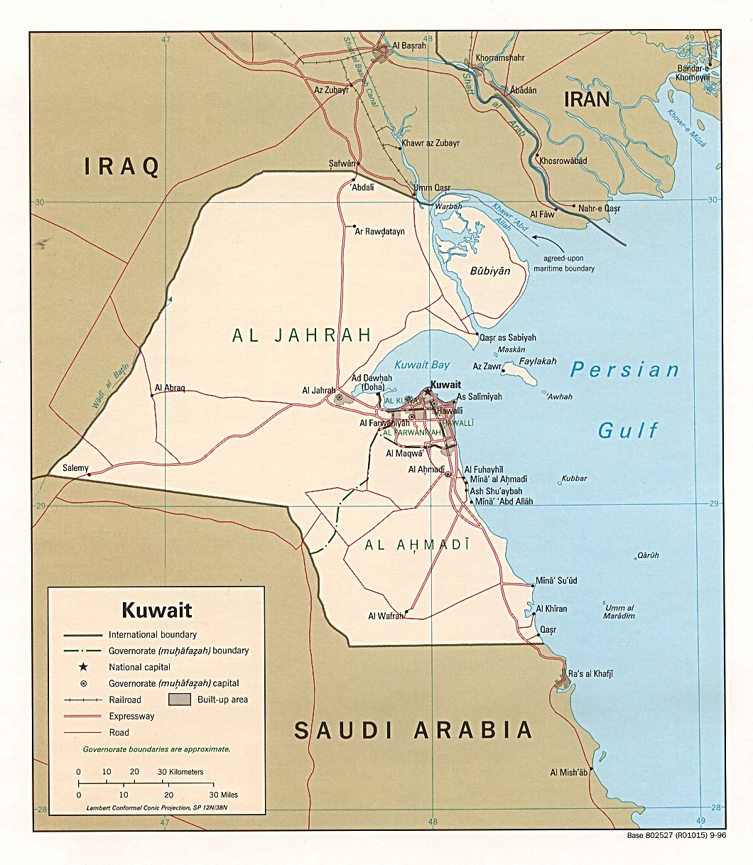 Kuwait road map maps of kuwait map library maps of the world gumiabroncs Gallery