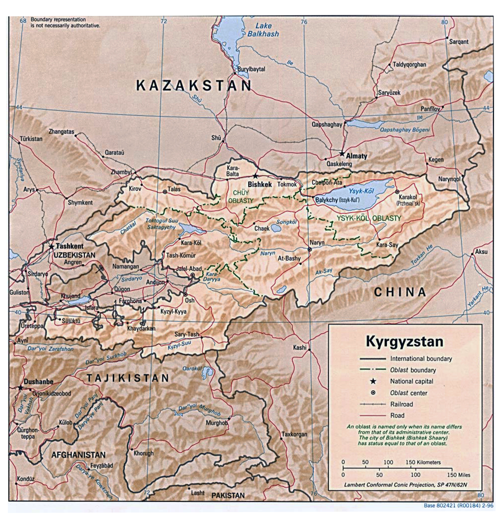 Maps of Kyrgyzstan   Map Library   Maps of the World