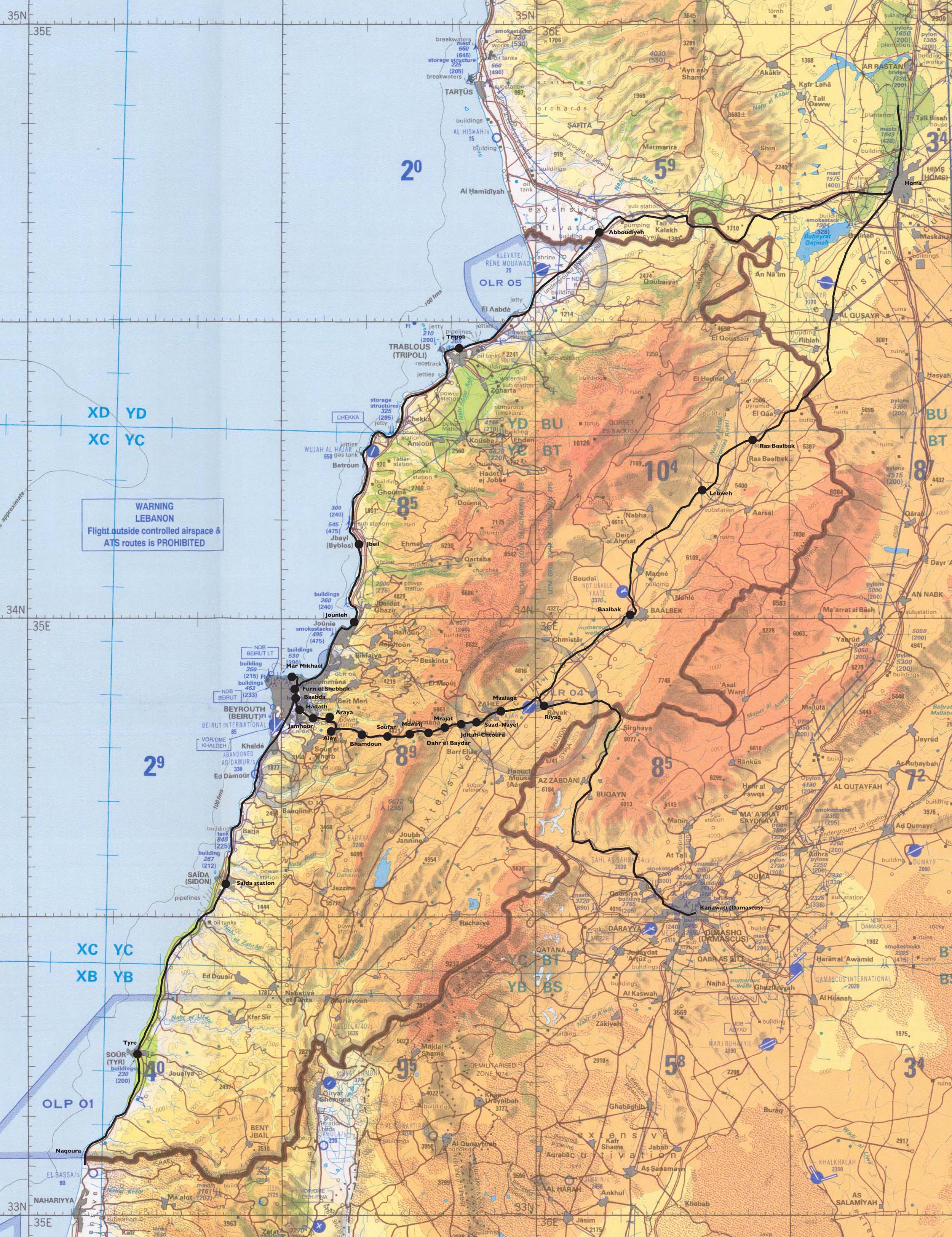 Maps of lebanon map library maps of the world detailed topographical map of lebanon gumiabroncs Image collections