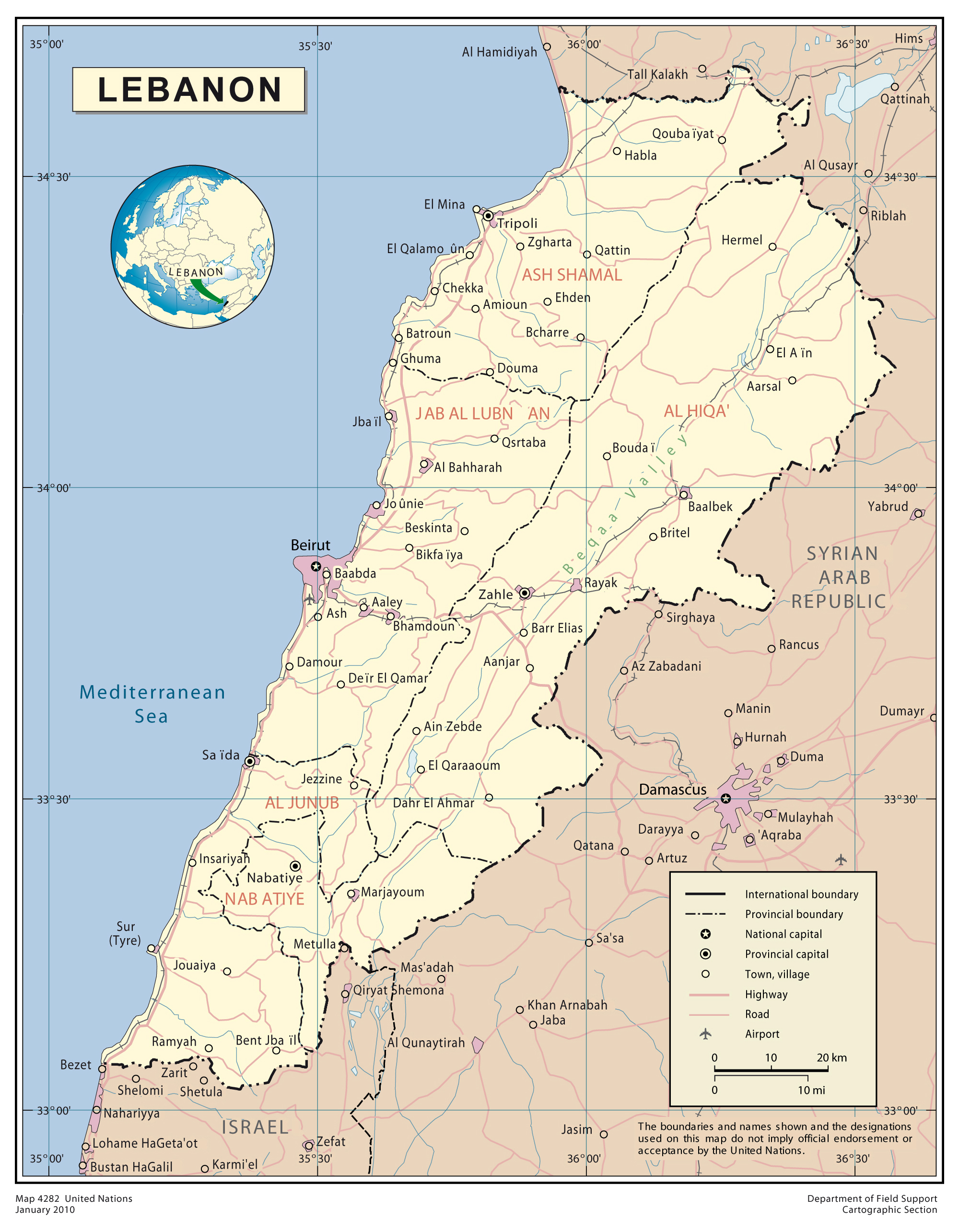 Maps of Lebanon | Map Library | Maps of the World