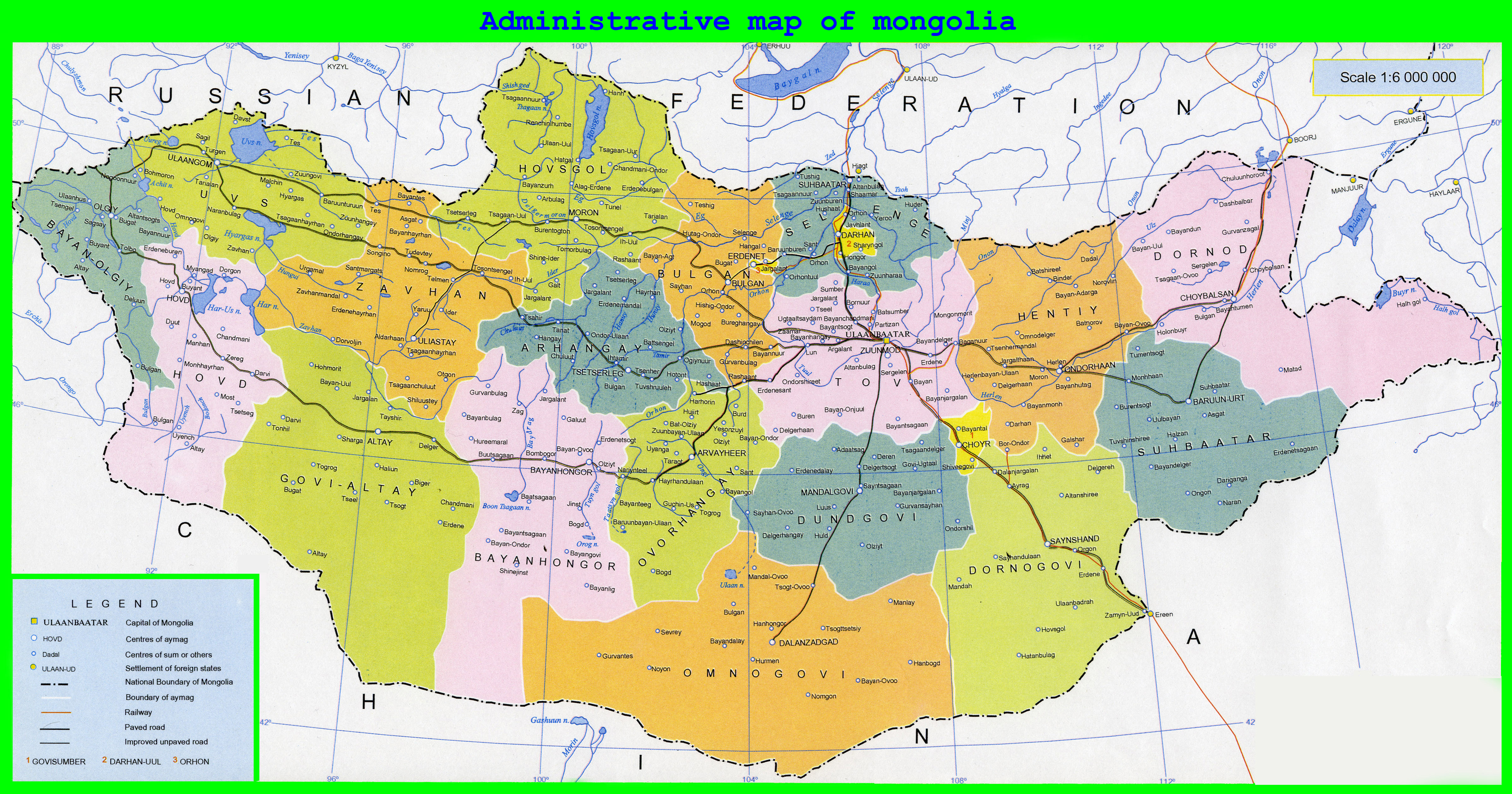 Maps of mongolia map library maps of the world large detailed administrative map of mongolia gumiabroncs Images