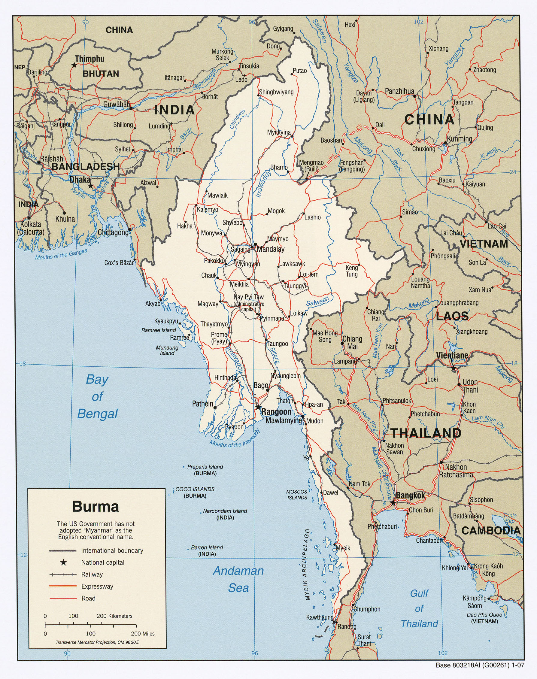 Maps of Myanmar Burma Map Library Maps of the World