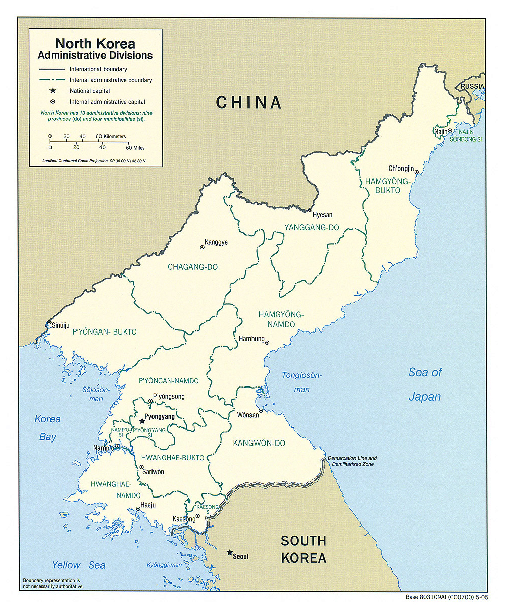 Maps of North Korea (DPRK) | Map Library | Maps of the World