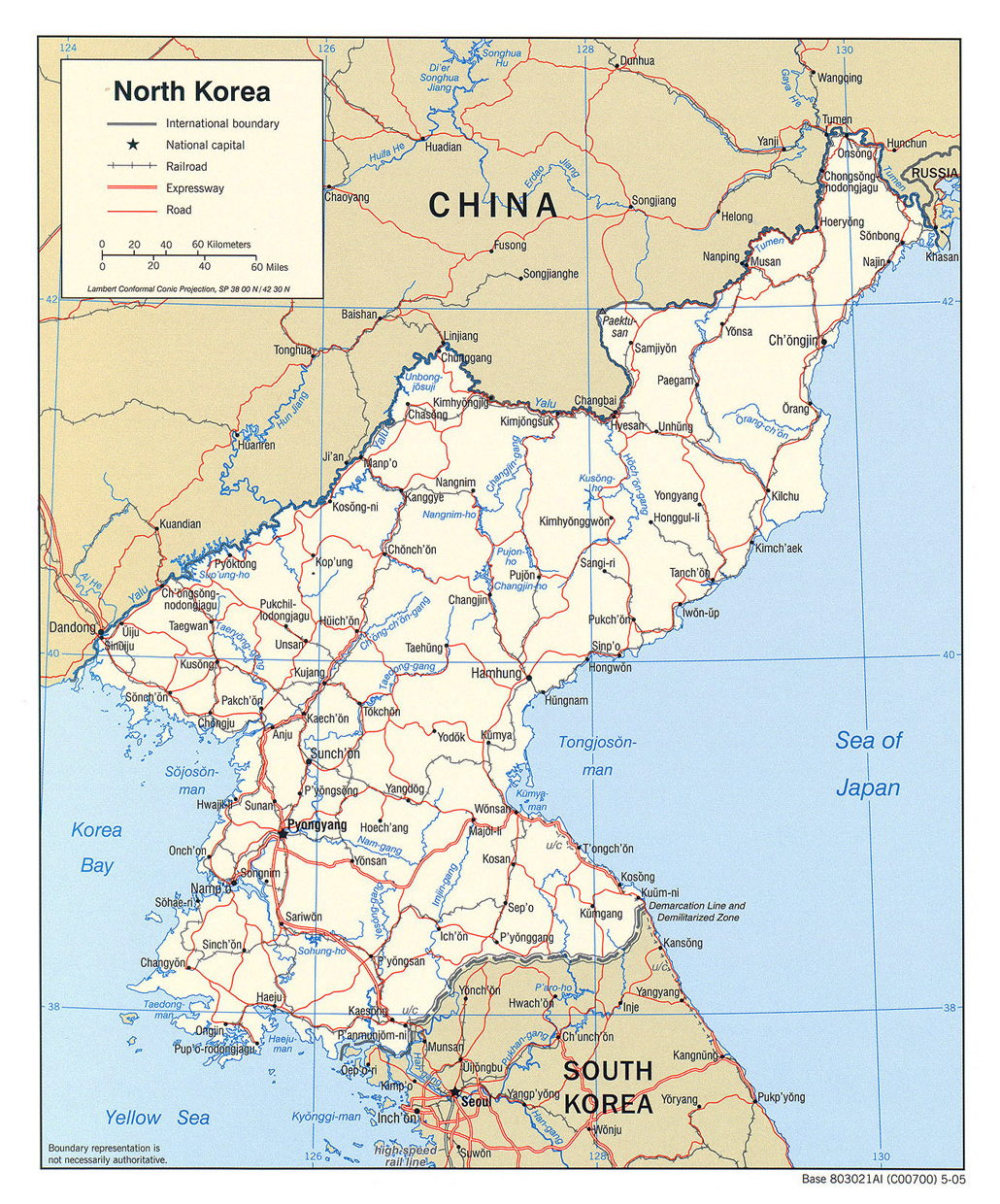 Maps of north korea dprk map library maps of the world detailed political map of north korea gumiabroncs Choice Image
