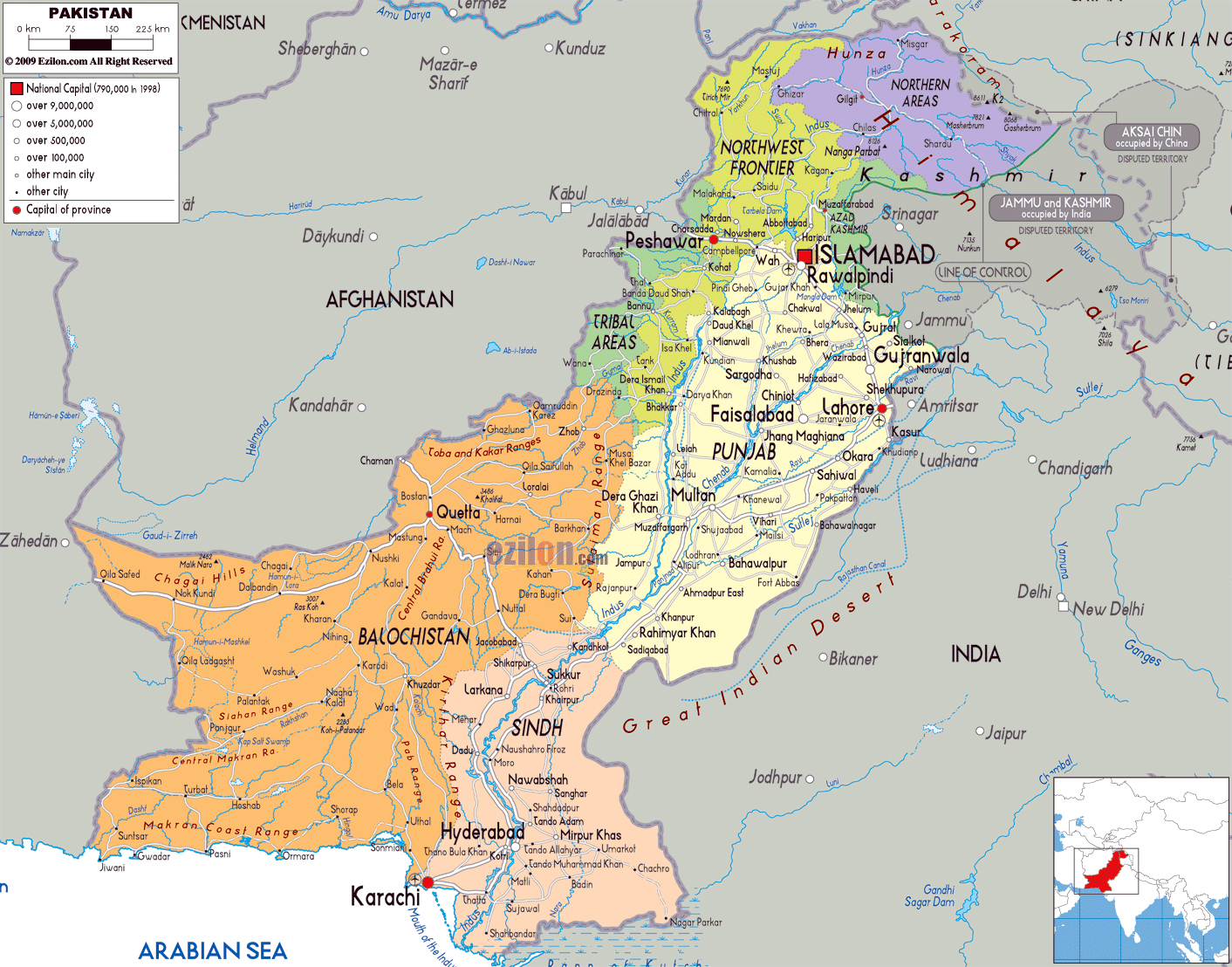 Maps of Pakistan Map Library Maps of the World