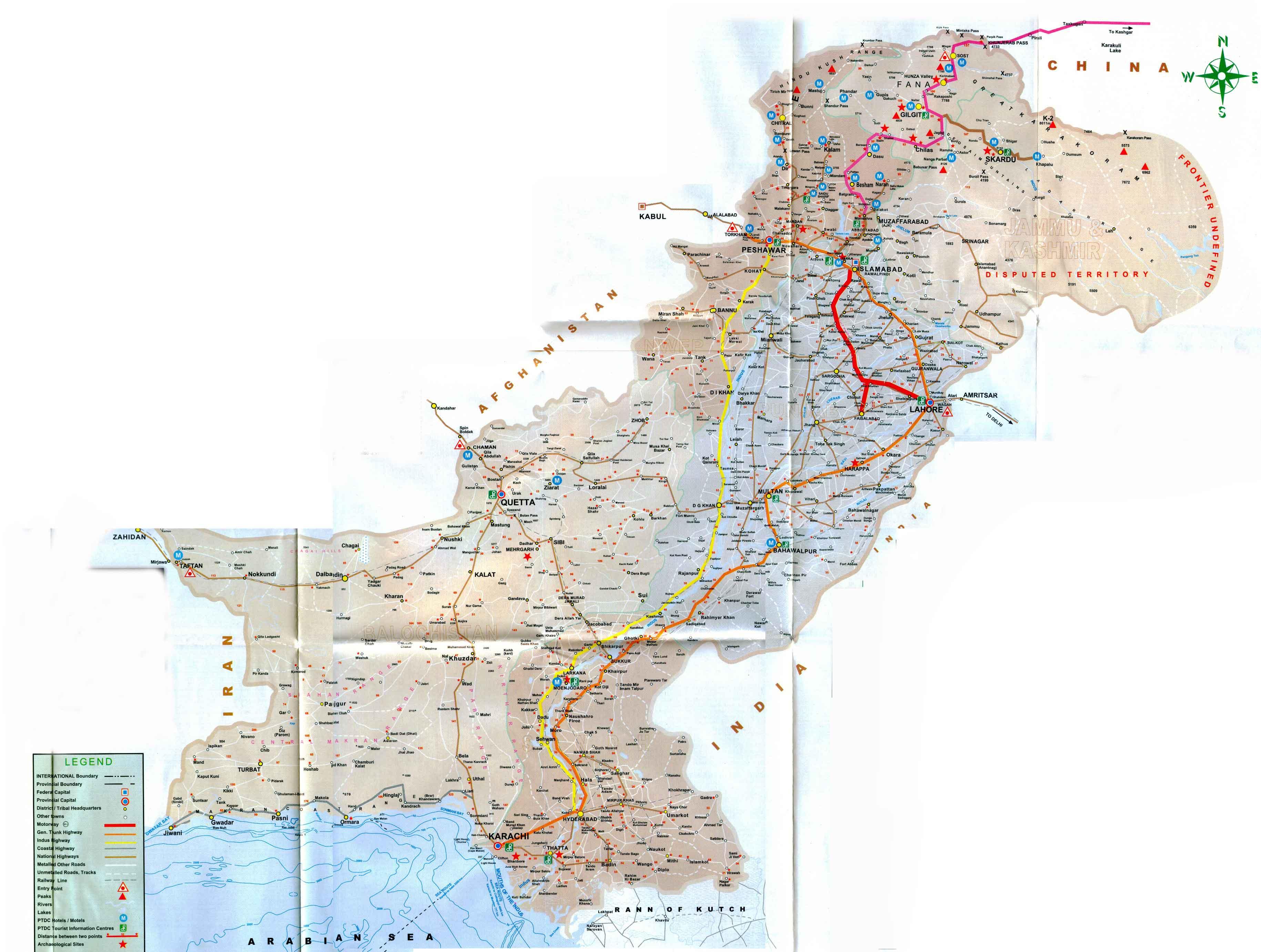 Maps Of Pakistan Map Library Maps Of The World - Maps pakistan