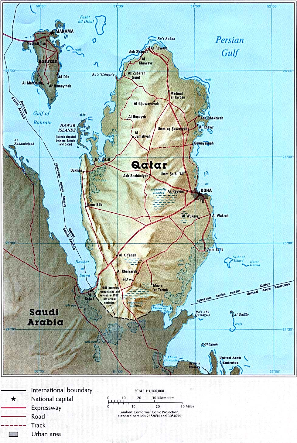 Maps of Qatar Map Library Maps of the World