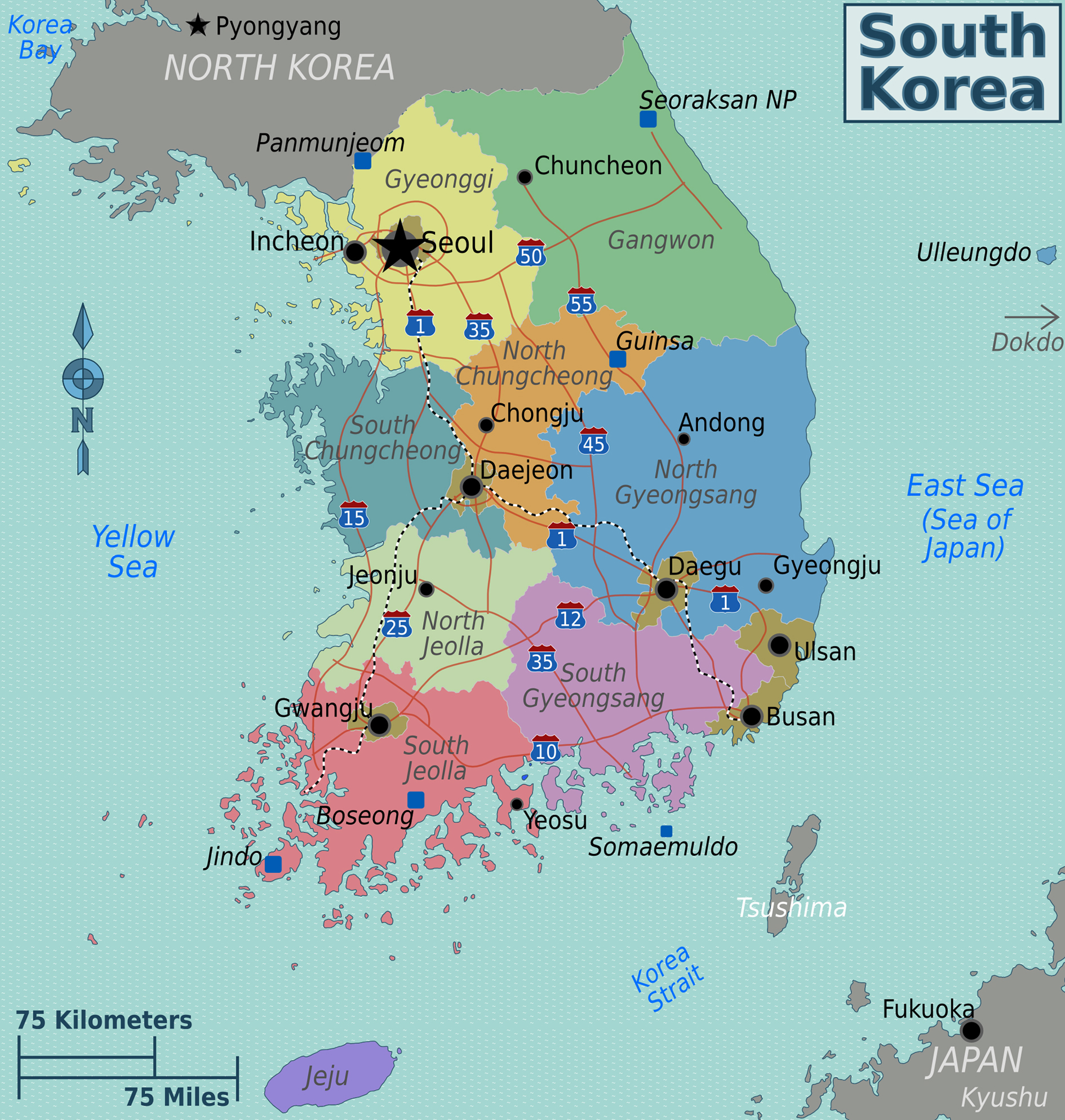 Maps Of South Korea Map Library Maps Of The World