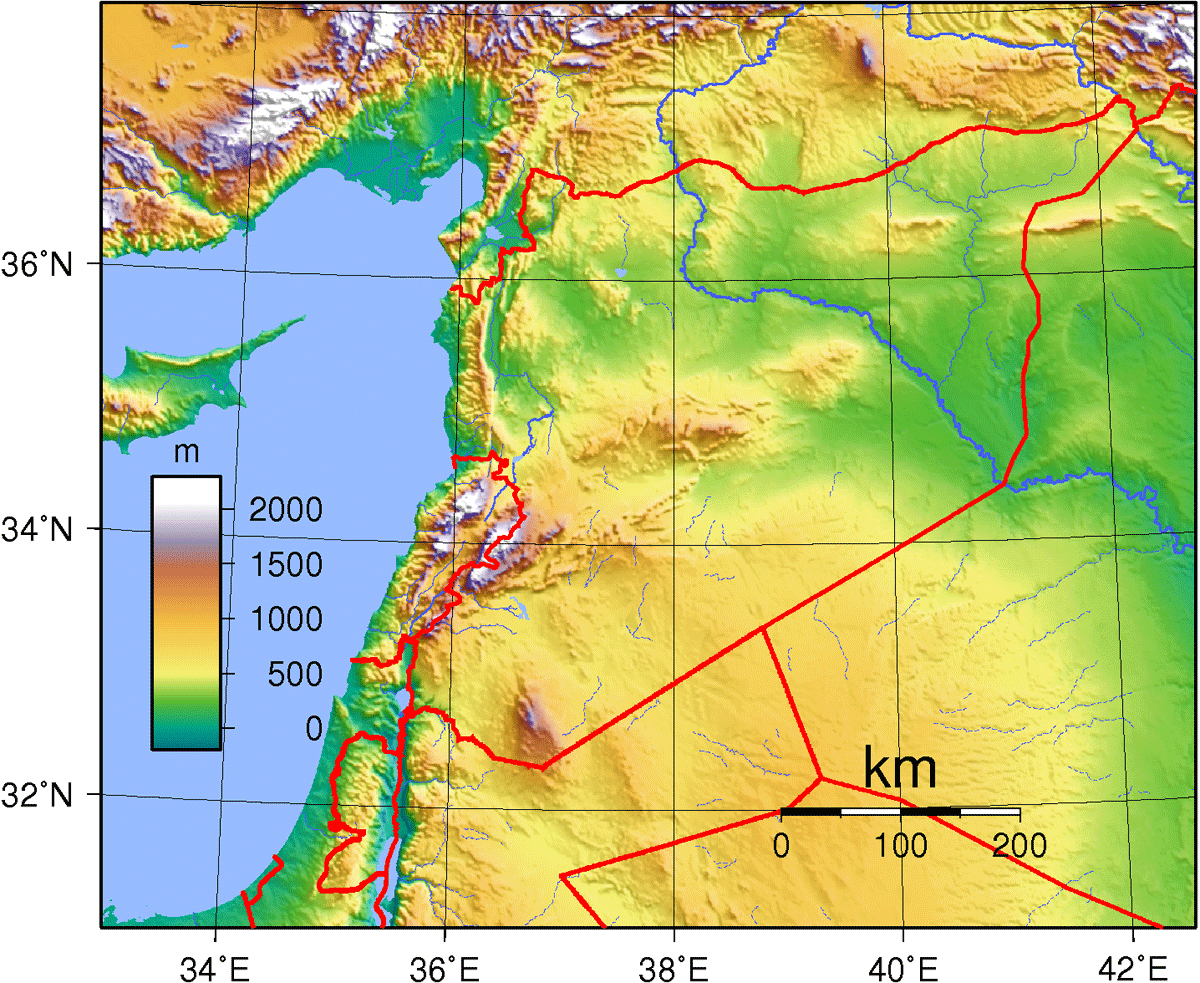Maps of Syria Map Library Maps of the World
