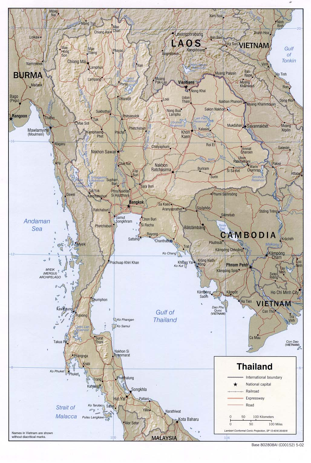Maps of Thailand Map Library Maps of the World