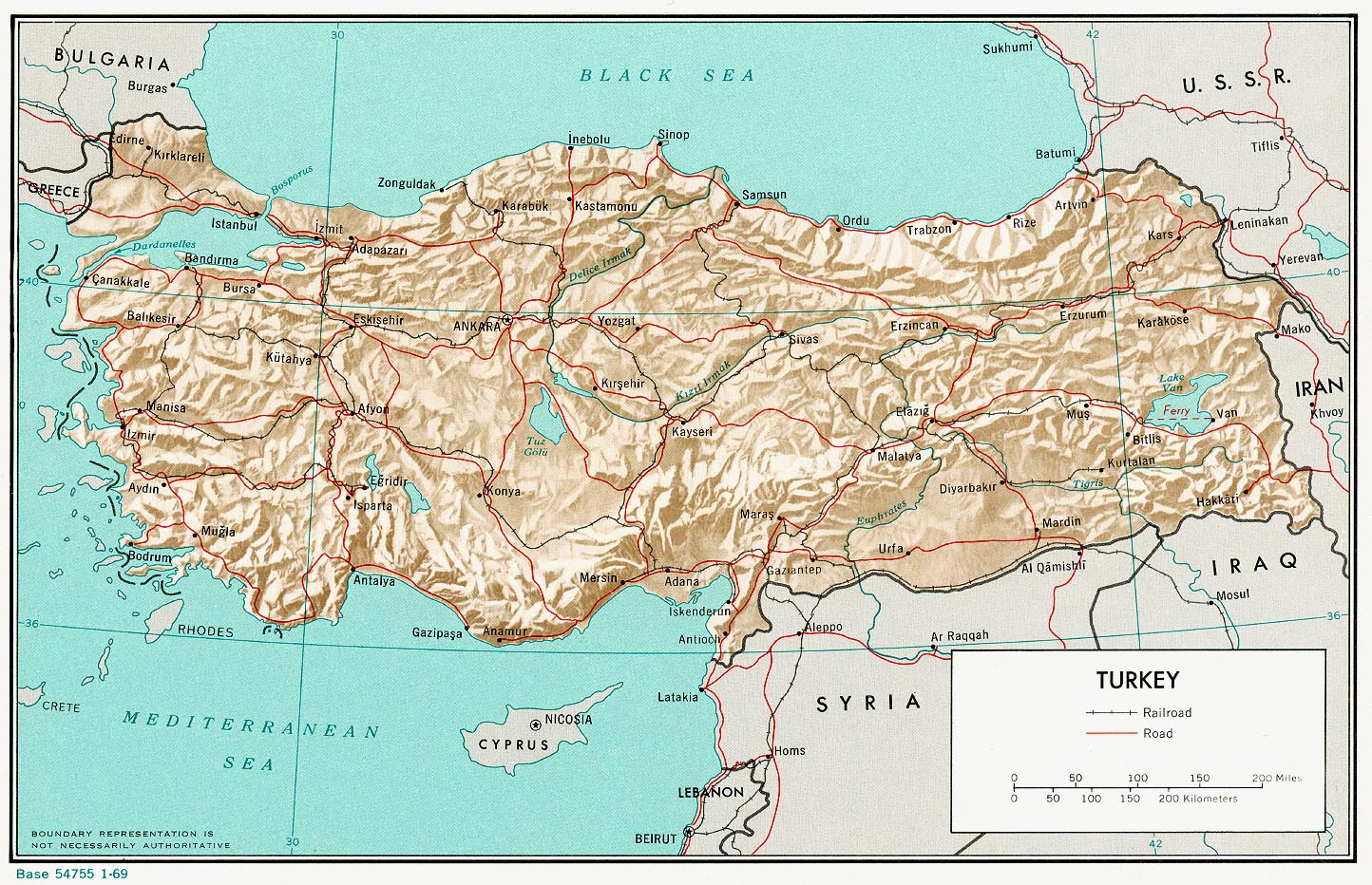Maps of Turkey Map Library Maps of the World